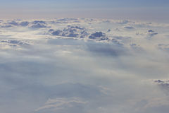 Dramatic cloudscape from above Royalty Free Stock Images