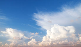 Dramatic cloudscape, blue sky photo background Stock Photos