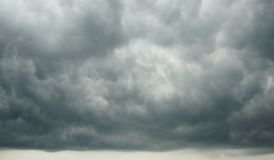 Dramatic Cloudscape - Dark Cloudy Sky forming before Rainstorm stock photo