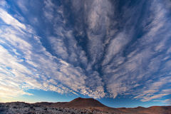 Dramatic cloudscape formations. Over Sinkkoppe mountain at Williston, Great Karoo, South Africa Stock Image