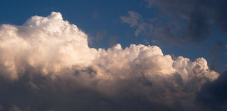 Dramatic Cloudscape Late Afternoon Sky Cumulonimbus Clouds Blue Royalty Free Stock Photography