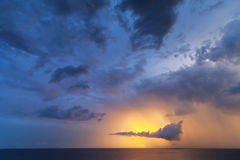 Dramatic cloudscape, morning sky background Stock Image