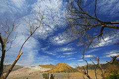 Dramatic cloudscape at Mount Bromo, East Java Royalty Free Stock Photography