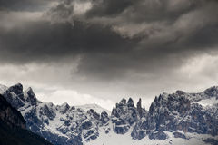 Dramatic cloudscape over the mountain range Stock Photography