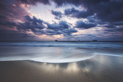 Dramatic cloudscape over the sea Royalty Free Stock Images