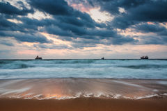 Dramatic cloudscape over the sea Stock Photography