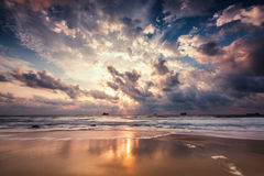 Dramatic cloudscape over the sea Royalty Free Stock Photography