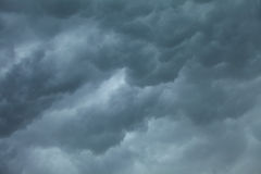 Dramatic cloudscape. Stormy clouds on the sky. Dramatic cloudscape. Dark stormy clouds covering the sky as nature background. Meteorology Stock Image