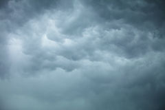 Dramatic cloudscape. Stormy clouds on the sky. Dramatic cloudscape. Dark stormy clouds covering the sky as nature background. Meteorology Royalty Free Stock Photography