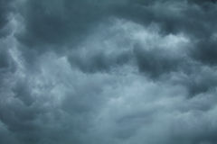 Dramatic cloudscape. Stormy clouds on the sky. Stock Photos