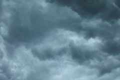 Dramatic cloudscape. Stormy clouds on the sky. Stock Images