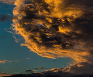 Dramatic cloudscape. Sunset clouds. Royalty Free Stock Photo