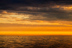 Dramatic cloudscape, sunset over the Sea Royalty Free Stock Photography