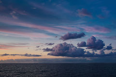 Dramatic cloudscape after sunset. Dramatic sky after sunset on the sea of Japan Royalty Free Stock Photo