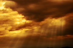 Dramatic Cloudscape  in sunset Royalty Free Stock Photography