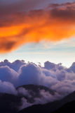 Dramatic cloudscape sunset in Troodos mountains, Cyprus Stock Photo