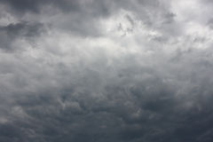 Dramatic cloudy sky Stock Images