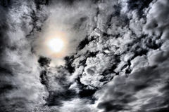 Dramatic cloudy sky Royalty Free Stock Image