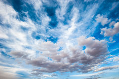 Dramatic cloudy sky background Royalty Free Stock Photo