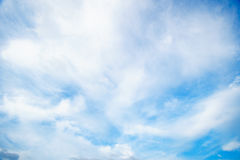 Dramatic cloudy sky blue sky in day time Stock Images