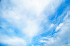 Dramatic cloudy sky blue sky in day time Stock Photo