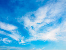 Dramatic cloudy sky blue sky in day time Royalty Free Stock Photo