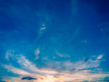 Dramatic cloudy sky blue sky in twilight time Stock Images
