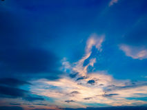Dramatic cloudy sky blue sky in twilight time Royalty Free Stock Photography