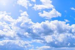 Dramatic cloudy sky clouds - natural sky background Stock Photos