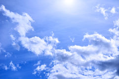 Dramatic cloudy sky clouds - natural sky background Royalty Free Stock Image