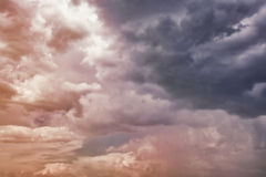 Dramatic cloudy sky Royalty Free Stock Photos
