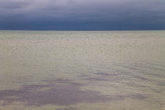 Dramatic cloudy sky over Azov sea Stock Images