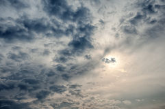 Dramatic cloudy sky Stock Image