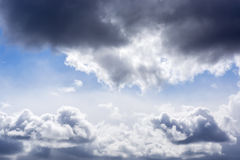 Dramatic cloudy sky on sunny day Royalty Free Stock Photo
