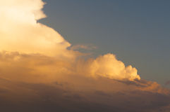 Dramatic cloudy sky at sunset Stock Photography