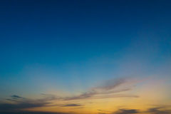 Dramatic cloudy sky in twilight time Royalty Free Stock Image