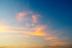 Dramatic cloudy sky in twilight time Royalty Free Stock Images