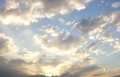 Dramatic cloudy summer sky. 1 Royalty Free Stock Photography