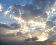 Dramatic cloudy summer sky Stock Images