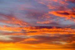 Dramatic Cloudy Sunrise over Waddington Royalty Free Stock Photography