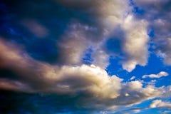 Dramatic cloudy sunset Stock Photos