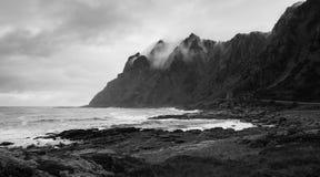 Dramatic Coast on Andoya in Norway Stock Image
