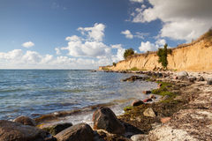 On the dramatic coast of the Baltic   Sea, Ruegen Island Stock Photo