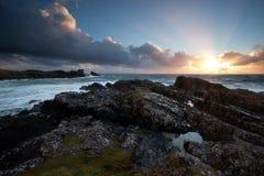 Dramatic coastal sunset Royalty Free Stock Photo