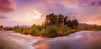 Free Dramatic Color Reflection In The Provo River, Utah USA. Royalty Free Stock Photo - 125452315