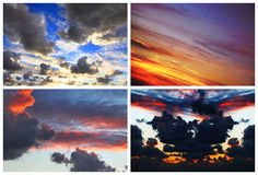 Dramatic color sunset Royalty Free Stock Image