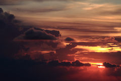 Dramatic colorful sunset Royalty Free Stock Images