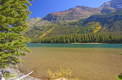 Dramatic Colors on an Alpine Lake Stock Photography