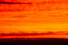 Dramatic colors of sunset sky in the distance Stock Photo