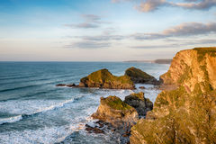 Dramatic Cornwall Coastline Royalty Free Stock Images